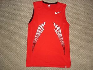 Nike FIT DRY Premier Del Potro 2008 USA Open Red Sleeveless Tennis Shirt RARE M