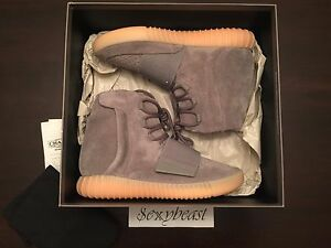 YEEZY BOOST 750 Grey Gum sz 9 Glow Receipt 100% Guaranteed Authentic Adidas NDS