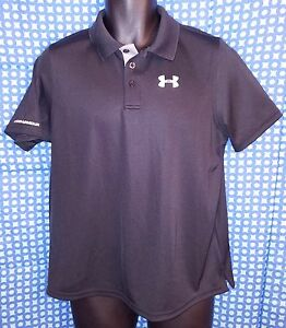 Under Armour Black Polyester Golf Polo Shirt NWOT - Youth XL (Loose Fit)