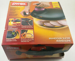 PYREX ROUND MANDOLIN FOOD SLICER BOWL CUTS SLICES VEGETABLES NIB 1085915