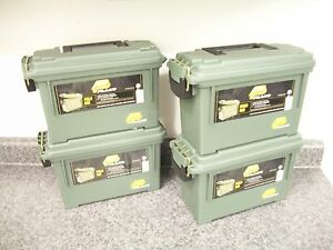 4 Plano Ammo Cans Boxes Use 4 Crafts Storage Hobbies Camping Fishing Hunting