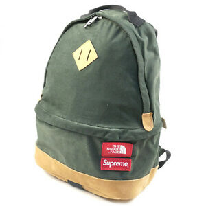 SUPREME  THE NORTH FACE 12 AW Medium Day Pack Backpack GREEN FREE