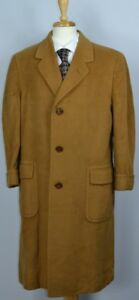 ABERCROMBIE & FITCH Mens Hand tailored Vicuna Jacket Trench Coat Sz 43 US RARE!