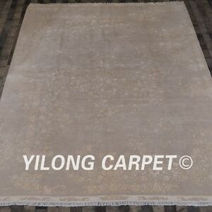Yilong 8.3'x10.5' Handwoven Wool Contemporary Rug Durable Home Carpet CQG60S