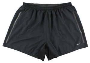 Nike Mens 5 Inch Race Day Dri Fit Running Shorts Black XL 589685 012