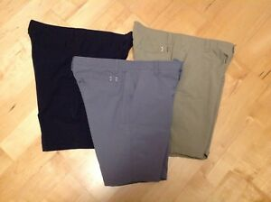 Lot of 3 Under Armour Men's UA Match Play Loose Fit Golf Shorts Sz 36 EUC
