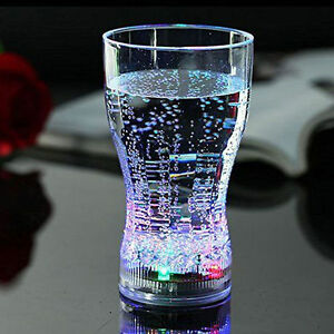 3 Coke Flashing Drinking Cup LED Light Up Shot Bar Club Party Beer Drink Glass