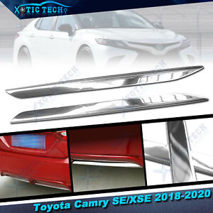 For Toyota Camry SE XSE 2018 2019 Stainless Chrome Trims - Rear Bumper Lower Lip