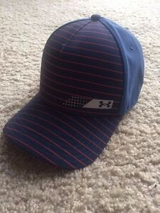 UNDER ARMOUR GOLF HeatGear Flex Fitted Mens Hat-LXL Navy and Red