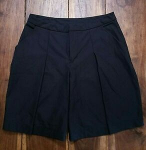 Lululemon ~ Long Story Short Womens Black Pocket Pleated Shorts Size 6 MSRP $68