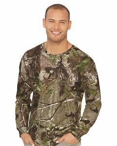 Code Five Adult Realtree® Camo Long Sleeve Tee 3981 S-XL T-Shirts - Long Sleeve