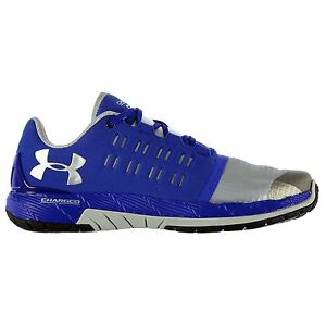 Under Armour Charged Core Running Shoes Mens BlueSilv Sports Trainers Sneakers