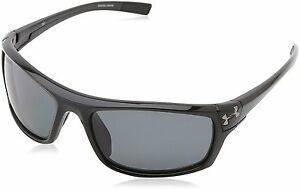 Under Armour Keepz Shiny Black Frame with Black Rubber and Storm ANSI Gray Lens
