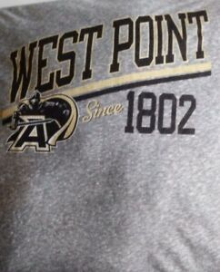 Under Armour Mens Large West Point T Shirt semi tight fit Hea gr cool dry light