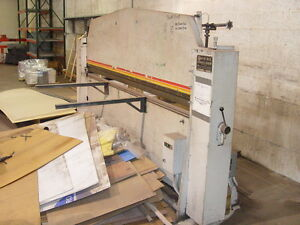 #15 ROTO-DIE Hydraulic Sheetmetal Press Brake 10' x 1416 Ga MildSteelStainless