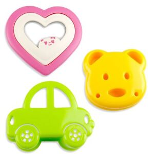 3 Set Sandwich Cutters Bread Toast Mold and Cookie Cutters Decorating Stamp Kit