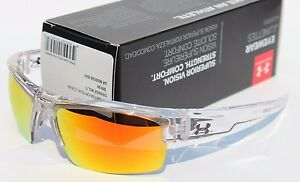 UNDER ARMOUR Igniter Sunglasses Crystal ClearOrange Multi NEW SportCycle $100