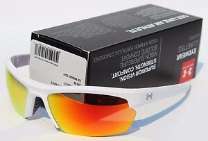 UNDER ARMOUR Stride XL Sunglasses Shiny WhiteOrange Multi NEW SportCycle $100
