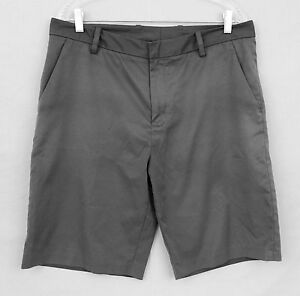 Men's ASHWORTH  Steel Grey GOLF Shorts Size.34 - 100% Polyester - VGUC - Nice!