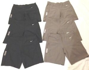 Lot of 7 NWOT NIKE DRY FIT Shorts Black and Taupe Size Women S
