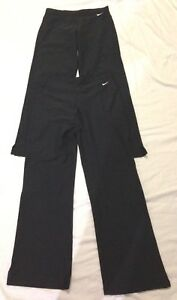 Lot of 2 NWOT NIKE DRY FIT Pants Black  SIZE  Women SS