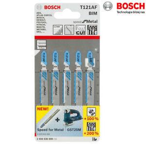 Bosch 5 pcs Jig Saw Blades T121AF for Metal Cutting 2608636699