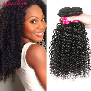 4 pcs hairstyles for curly hair peruvian hair kinky curly human hair extensions