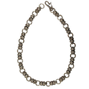 Pave Diamond Beads Designer Choker Necklace 925 Sterling Silver Women'S Jewelry