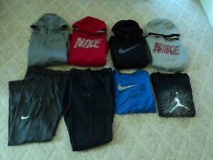 Boys Youth Large Nike + Under Armour Lot of 8 -Hoodies - Pants- Shirts Free Ship