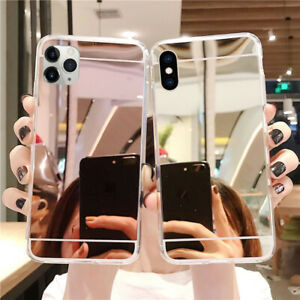 Luxury Thin Silicone Mirror Soft Case Cover For iPhone 11 Pro Max XS XR 7 8 Plus
