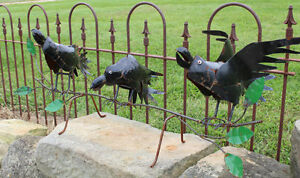 Recycled Metal 3 Crows Yard Decor Lawn Accent $114.95