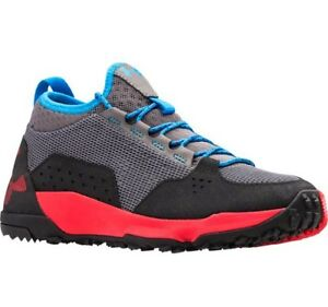 Under Armour Youth Boy's Burnt River Hiking Boot Shoe Size 5 Gray Black Blue