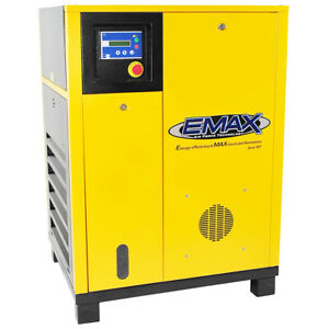 EMAX ERV0150001 15 HP 1-Phase Exclusive Rotary Screw Air Compressor