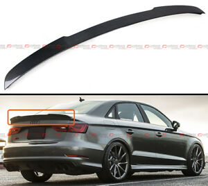 FOR 14-18 AUDI A3 S3 SEDAN V TYPE HIGHKICK CARBON FIBER REAR TRUNK SPOILER WING