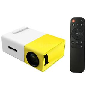 Mini Portable LCD Multimedia LED Projector Full HD 1080P USB HDMI AV TV VGA SD