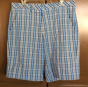 Men's GOLF SHORTS  Ashworth -  Blue Plaid - Size 34
