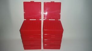 BERRY'S PLASTIC AMMO BOXES (8) RED 100 Round 38  357 - FREE SHIPPING