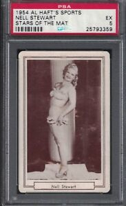 1954 Al Haft NELL STEWART Female Wrestling Champion Card Rookie PSA 5