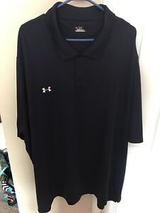 Under Armour Loose HeatGear Men's Royal Blue Golf Polo Shirt 4XL XXXXL