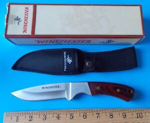 WINCHESTER FIXED BLADE HUNTING KNIFE WITH NYLON SHEATH IN BOX! STIDHAM ESTATE
