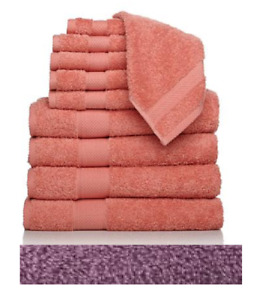 Concierge Collection 100% Turkish Cotton 10-piece Towel Set Plum