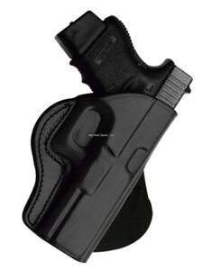 TAGUA GUNLEATHER ROTATING PADDLE HOLSTER - GLOCK 17-22-31. BLACK RIGHT HAND