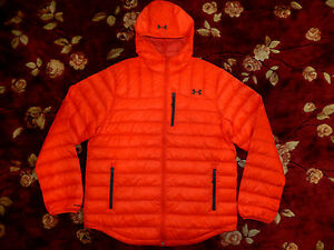 $274 Under Armour Storm Mens Red Hoody Loose Jacket Size XL Authentic Coat