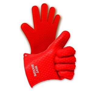Hot Hands Heat Resistant Silicone Gloves Mitts for Kitchen Cooking amp; Oven