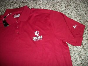 UNDER ARMOUR Indiana Hoosiers University IU New NWT Mens XL Polo Shirt Loose Fit