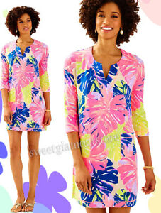 NWT Lilly Pulitzer Joyce UPF 50+ Under The Canopy Print French Terry Dress