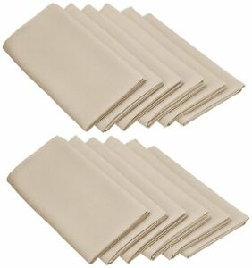Set Napkins Polyester 15X15 Inch 12 Units By Broward Linens Variety of Color