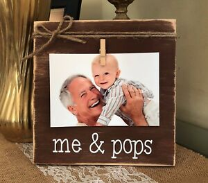Gift for Grandfather Christmas Gifts Rustic Picture Frame