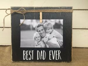 Gift for Father Dad Christmas Gifts Rustic Picture Frame