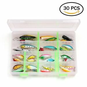 30PCS Fishing Lures for Freshwater Bass Lures Length From 1.57 to 3.66 Inches